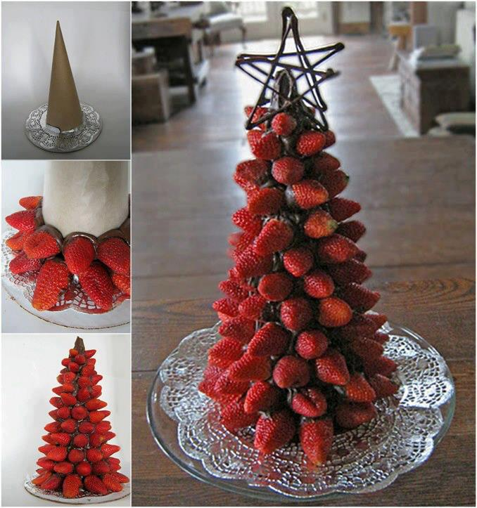 strawbwery-christmas-tree-art-food-decor-decorating-free-online-design ...