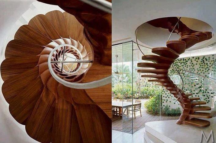 wood spiral staircase plans