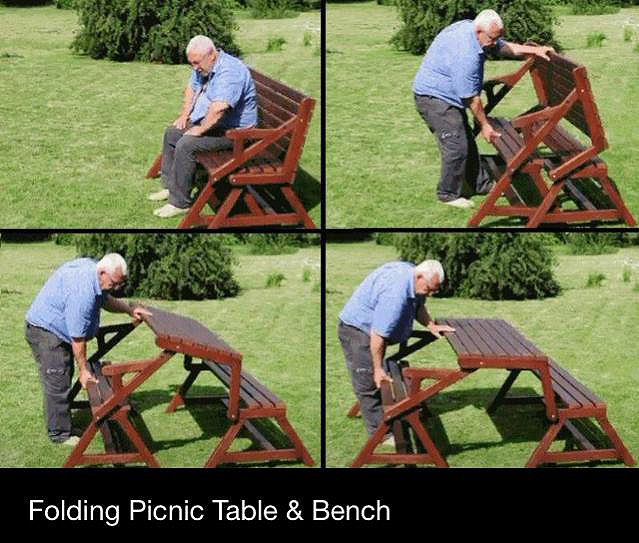 convertible picnic table plans free 3